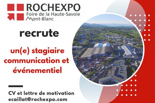 Rochexpo recrute au service Communication!