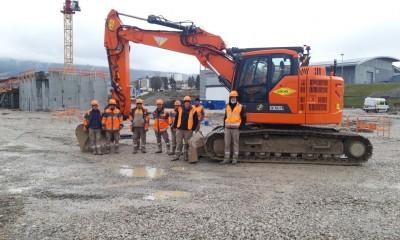 Construction de la nouvelle halle : la phase de terrassement